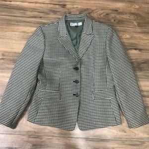 Tahari Levine green and navy blazer sz 12P